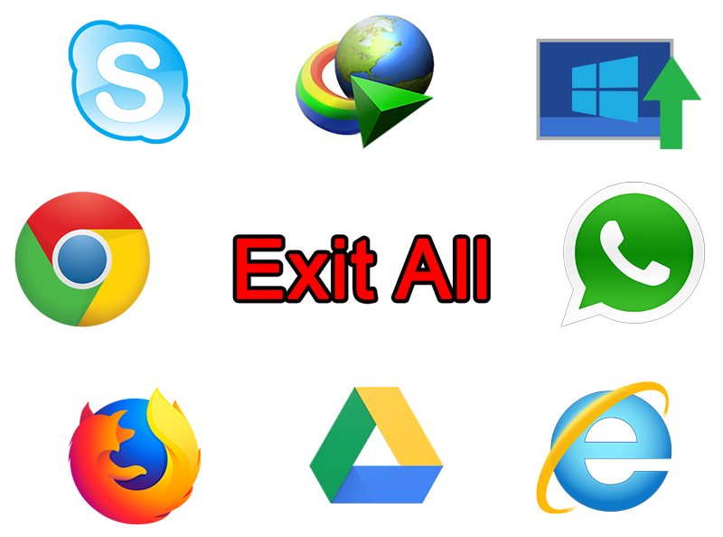 Exit all apps that will use internet traffic
