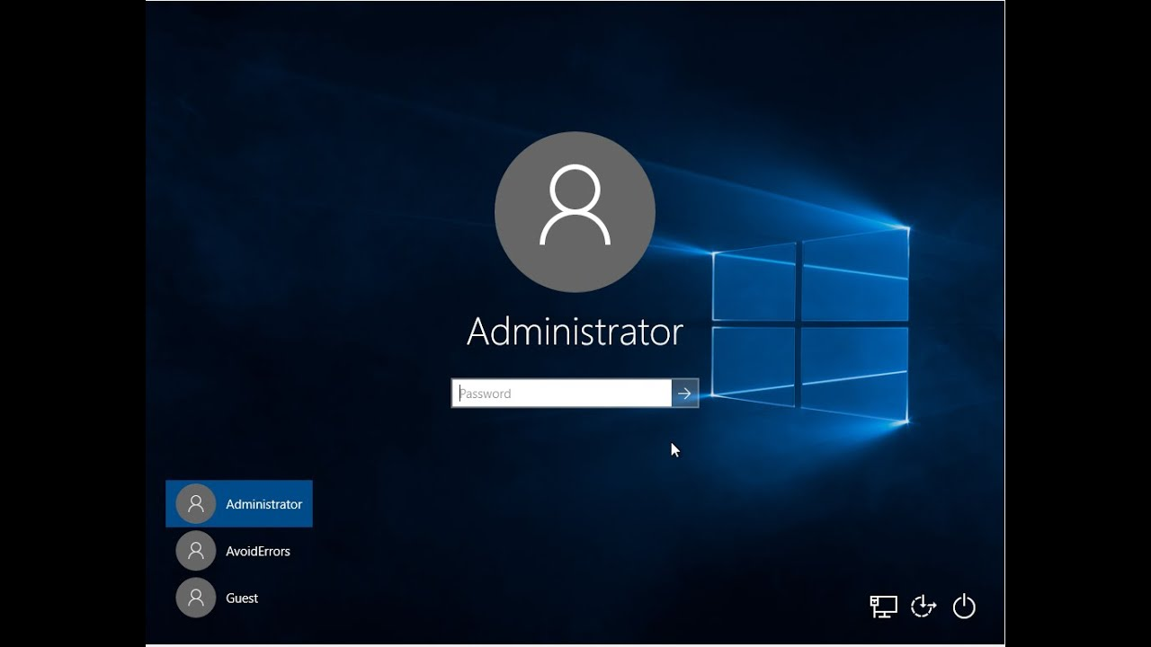 Creating new administrator account in windows