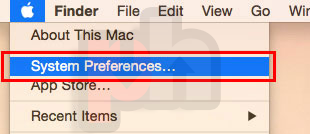 macOS System Preferences menu screenshot