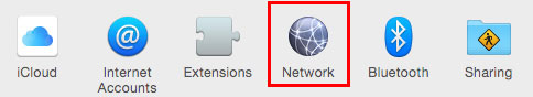 macOS System Preferences menu >> Network screenshot