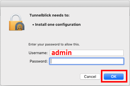 administrator privilege is required for importing configuration